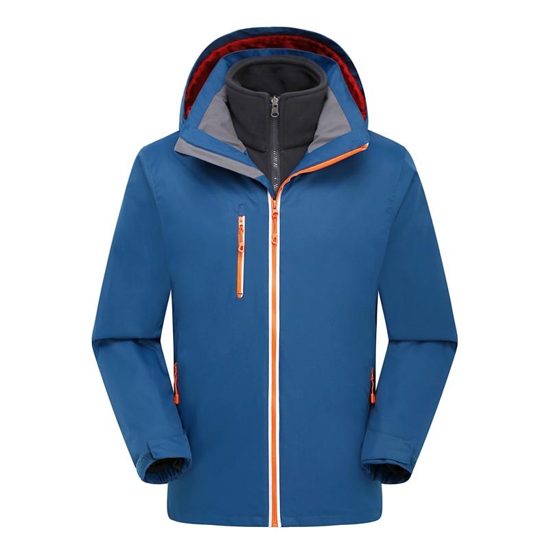 ФОТО Men's Waterproof 3 in 1 Ski Jacket Fleece Liner Warm Jacket Winter Outdoor Thermal Snowboard Jackets Climbing Skiing Clothes