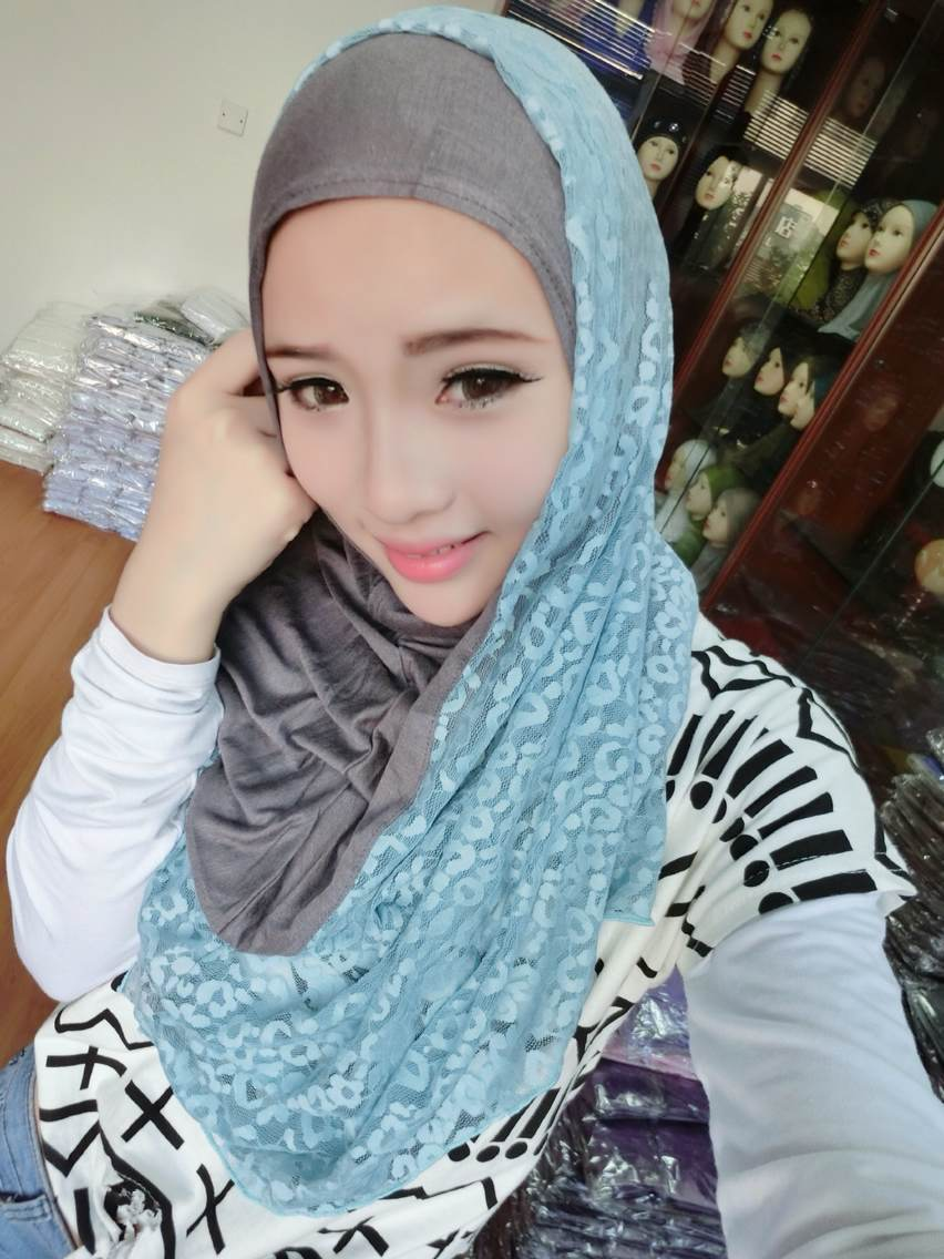 A754 The Malaysia Style Cotton And Lace Fashion Muslim -9458