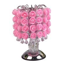 Ароматизированная лампа, дерево, светильник, цветок розы, настольная лампа, украшение дома, светильник s со светодиодами для дома, вечерние, свадебные, с европейской вилкой(розовый