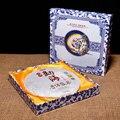 Caixas de presente de chá Pu'er Menghai cozido Yunnan especialidade Chá Pu'er Emagrecimento Corpo Cuidados de Saúde 357g