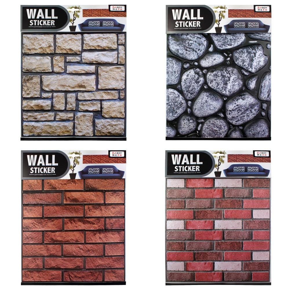 Waterproof PVC 3D Wall Stickers Self-adhesive Safty Home Decor Wallpaper DIY Wall Decor Brick Living Room Decorative Sticker