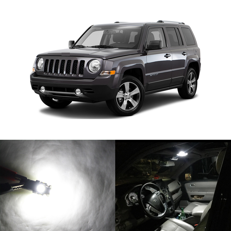 Lot 8 Led Light Canbus Bulbs For Jeep Patriot Car 2007