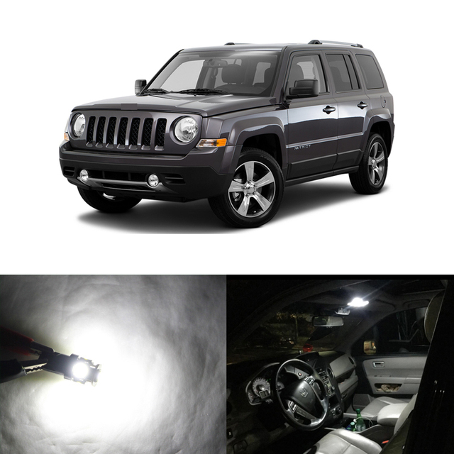 Us 8 27 7 Off Lot Led Light Canbus Bulbs For Jeep Patriot Car 2007 2017 Interior Package Kits Map Dome Trunk License Plate Lights In Signal