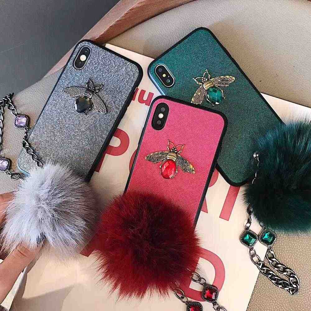 coque iphone xr pompom