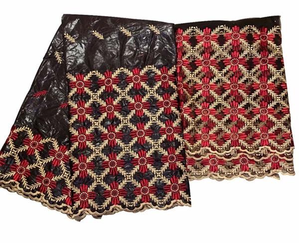 Tessuto africano bacino riche getzner bazin brode getzner atiku tessuto con pietre di alta qualità nigeriano gele headtie 5 + 2 yards/lot
