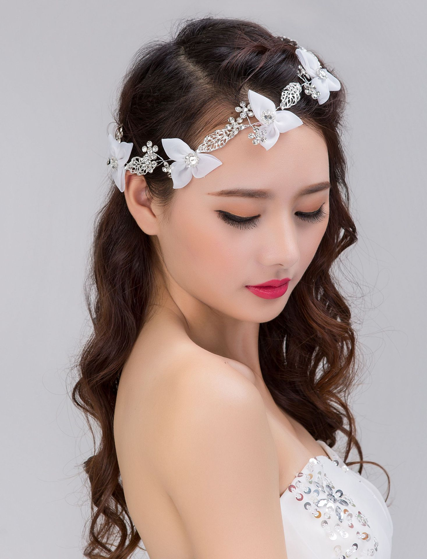 headdress han edition manual crystal set auger hollow out leaf tire wholesale wedding hair accessories manufacturer-in hair accessories from mother &
