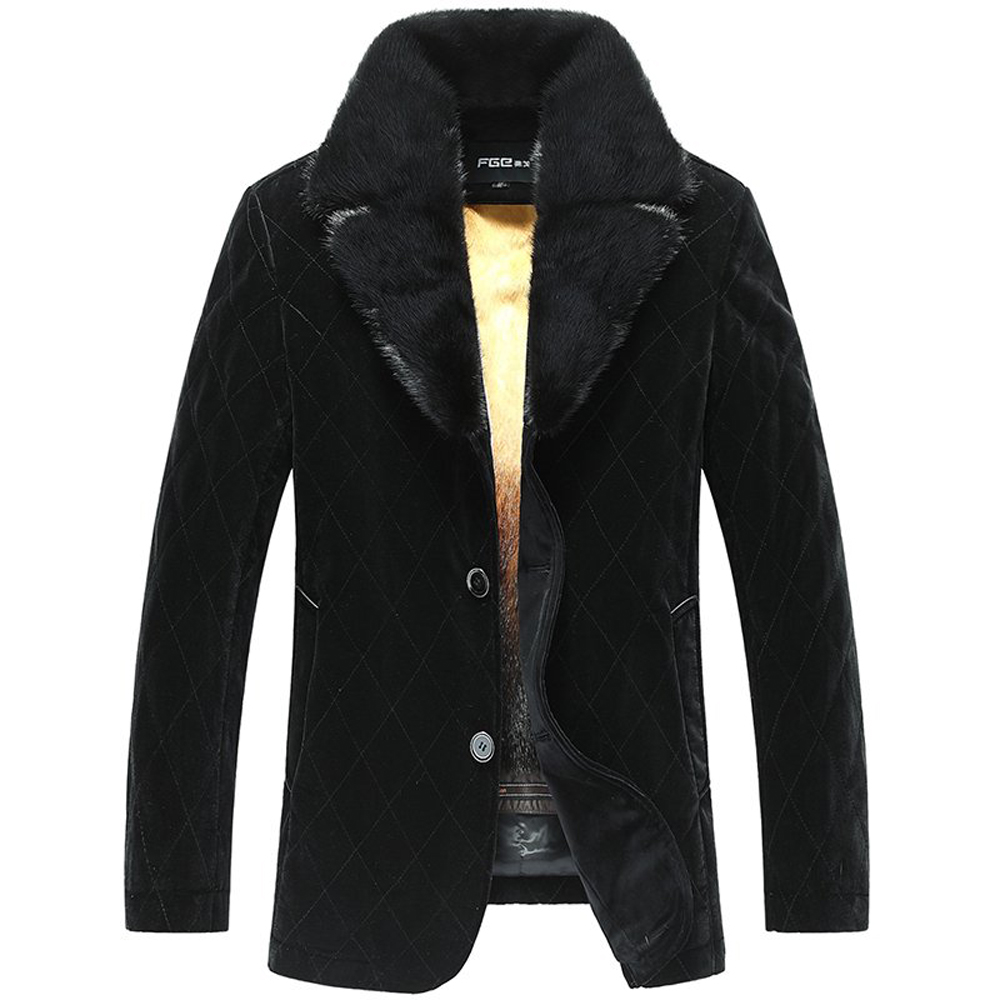 Mens jacket fur inside