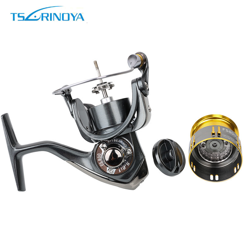 Tsurinoya FS 800 1000 2000 Ultra Light Spool Carp Fishing Spinning Reel Surfing Bait Freshwater Saltwater Spinning Fishing Reels - 4