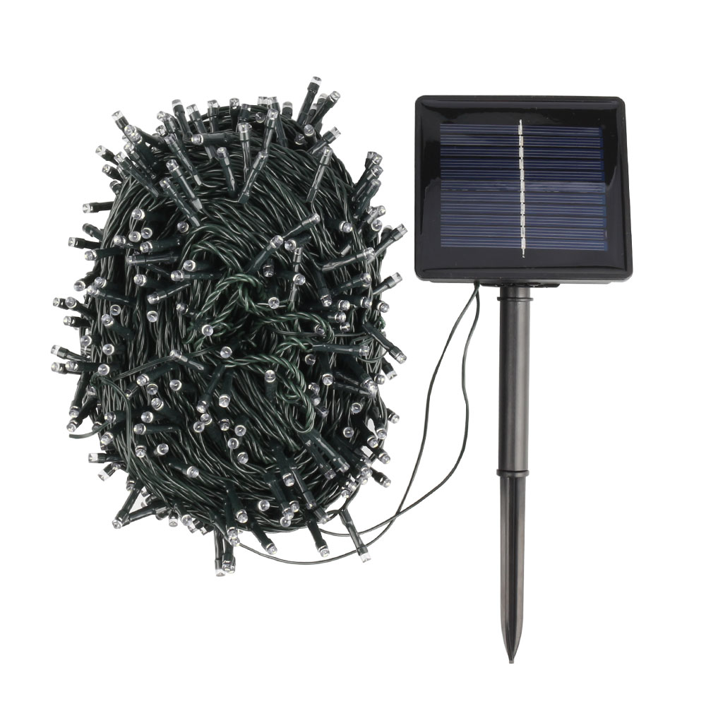 цена на ZINUO 50M 200LEDs Solar String Lights Outdoor Waterproof LED String Lights Fairy Holiday Christmas Party Garlands Garden Lights