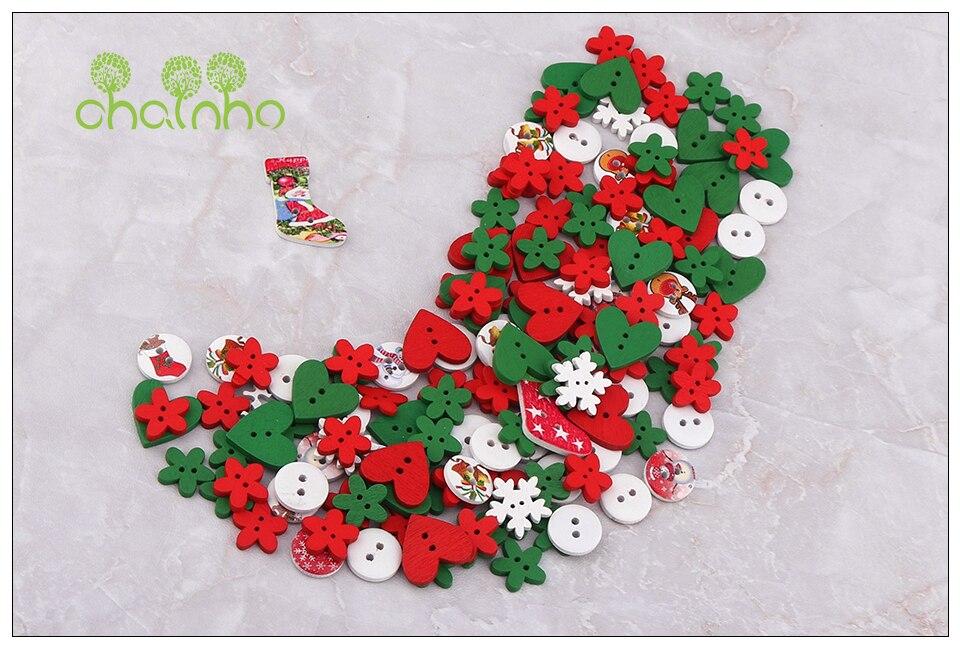 Chainho, Mischen Design, 2 Löcher, Weihnachten Serie, holz Tasten ...