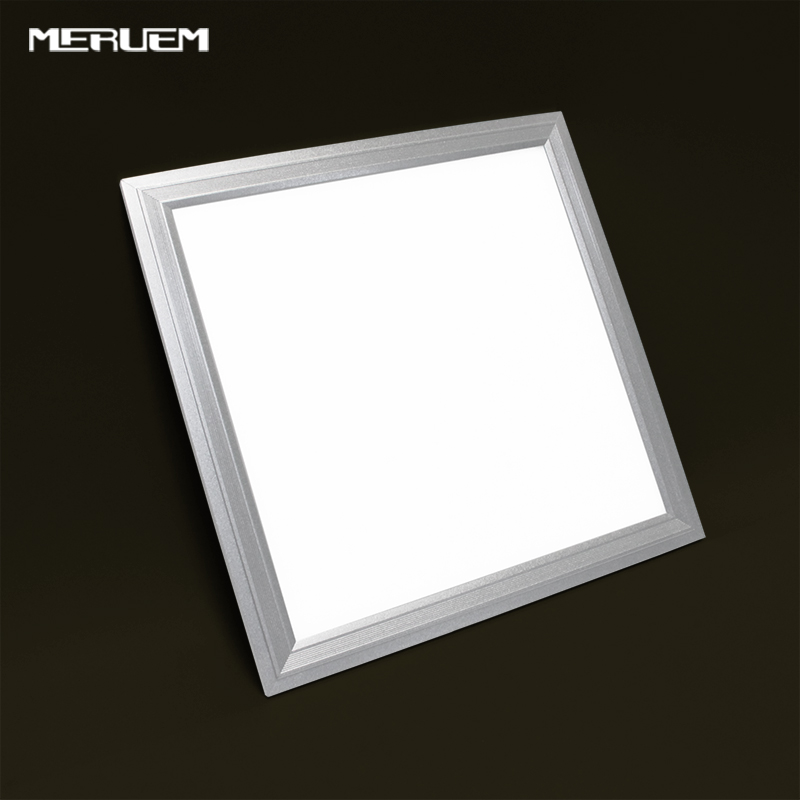 Free shipping 2/3/4/6/8 PCS/Lot Led panel light 300x300mm 110/220v dimmable 12W/18W/24W ultra thin LED Flat lamp Silver outline