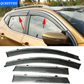 Car Stylingg Awnings Shelters 4pcs/lot Window Visors For Nissan Qashqai 2007-2016 Sun Rain Shield Stickers Covers