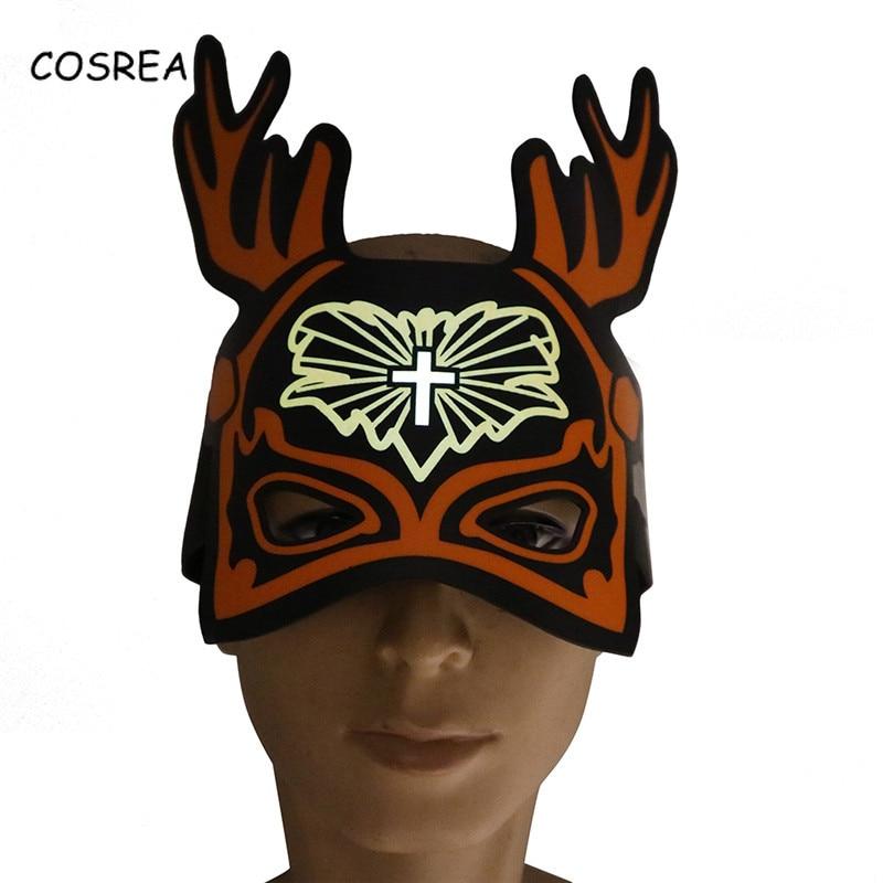 Christmas Mask Facial Mask Female Men Facepiece Santa Claus Mask Hat Boys Girls Decorating Cosplay Costumes
