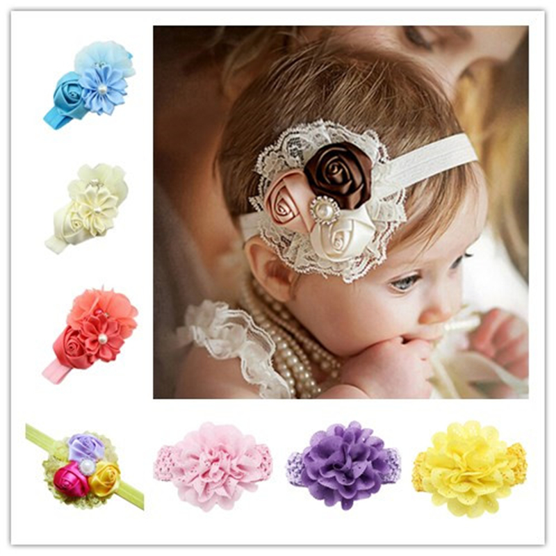 Fille Headbands Baby Girls Hair Accessories Newborn Photography Props Acessorios Flower Faixas Hair Accessories girl headband 15pcs lot stretch elastic tutu headbands diy headband hair accessories 1 5 inch crochet headband free shipping 33colors in stock