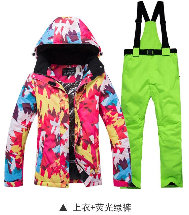 Terno de esqui das mulheres marcas alta