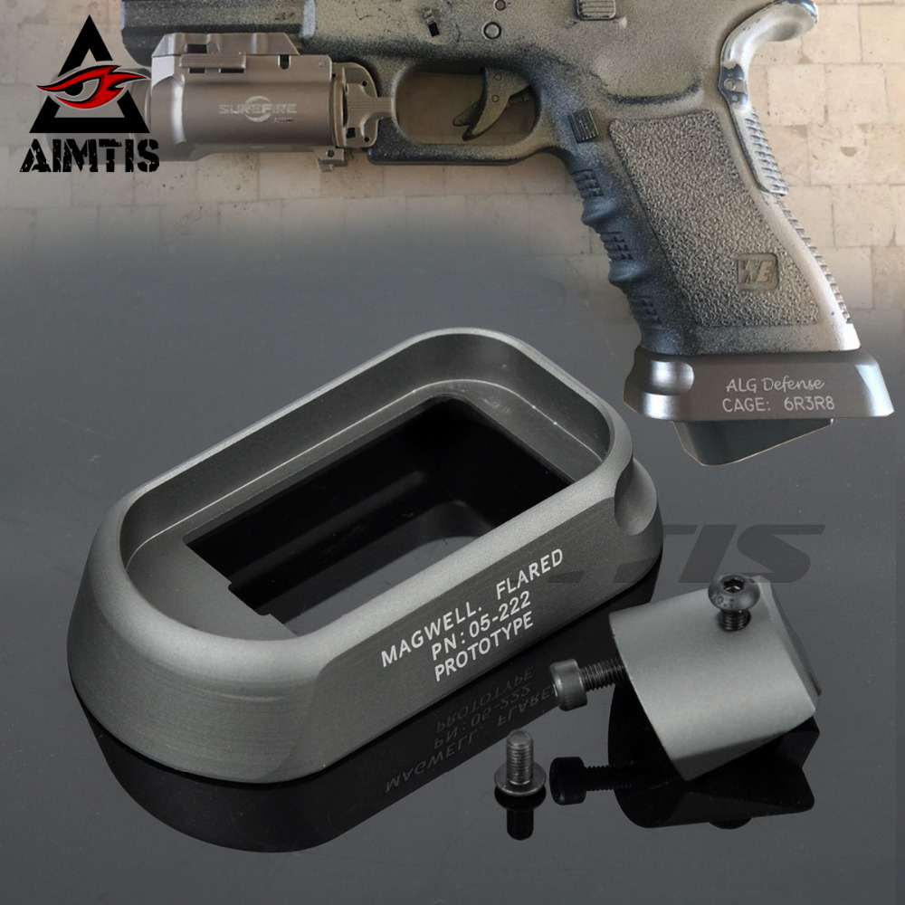 AIMTIS Tactical ALG Defense Magwell For Pistol Airsoft Gen3 Glock 17 18C 22 24 31 35