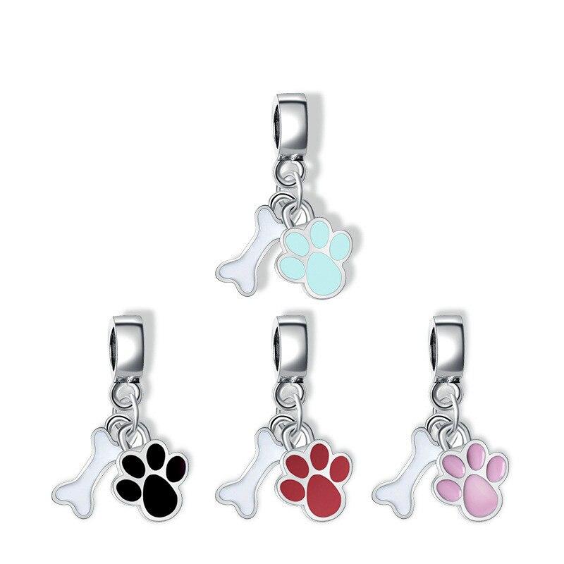 10PCS Mixed Enamel Alloy Cat Pendants Charms DIY Jewelry Making Platinum Color