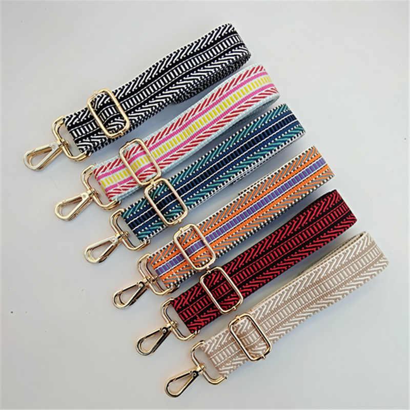 HJKL цветной ремень сумки подарочные аксессуары для женщин Радуга Регулируемая Вешалка на плечо сумки ремни декоративная ручка орнамент