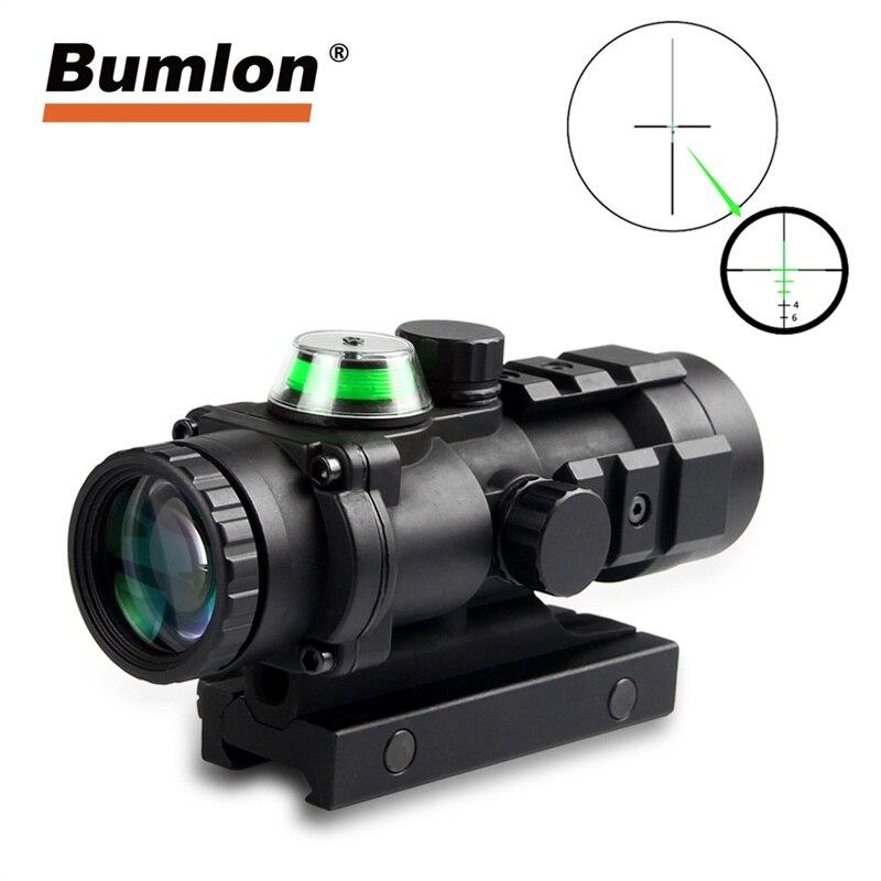Bullet Drop Compensator Tatical Optical Sight 3x32 GP01 Fiber Prism Illuminated RifleScope 20mm Rail Hunting Airsoft Collimator