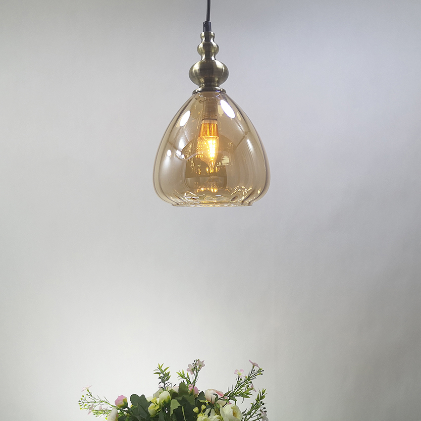Nordic modern glass pendants lights water drops glass shade luminaire suspension for restaurant bar cafe aisle