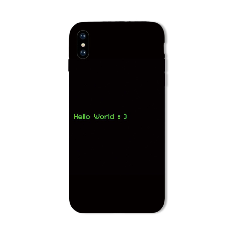 iphone8 XS MAX XR mobile phone shell 7plus simple soft silicone 6S Originality text Black 5 Grind anti dropping X phone case