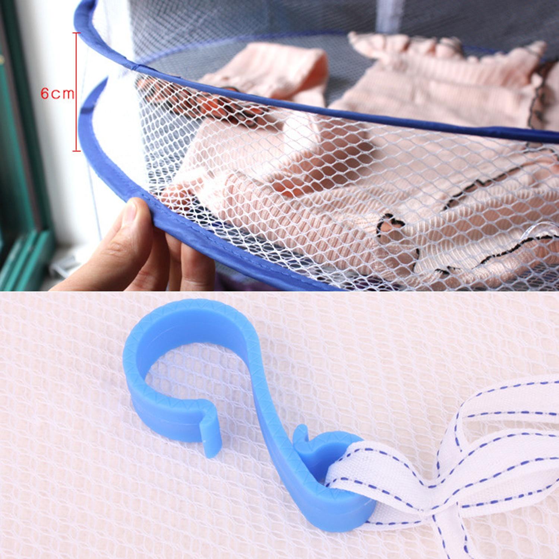 Drying Racks & Nets Mesh Blue Sweater Underwear Bra Hanging Basket Laundry Storage & Organization