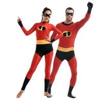 incredibles 2 adult/kids Cosplay Costumes Spandex Lycra Zentai Unitard Full Body Zipper Back Long Sleeve Halloween Bodysuit