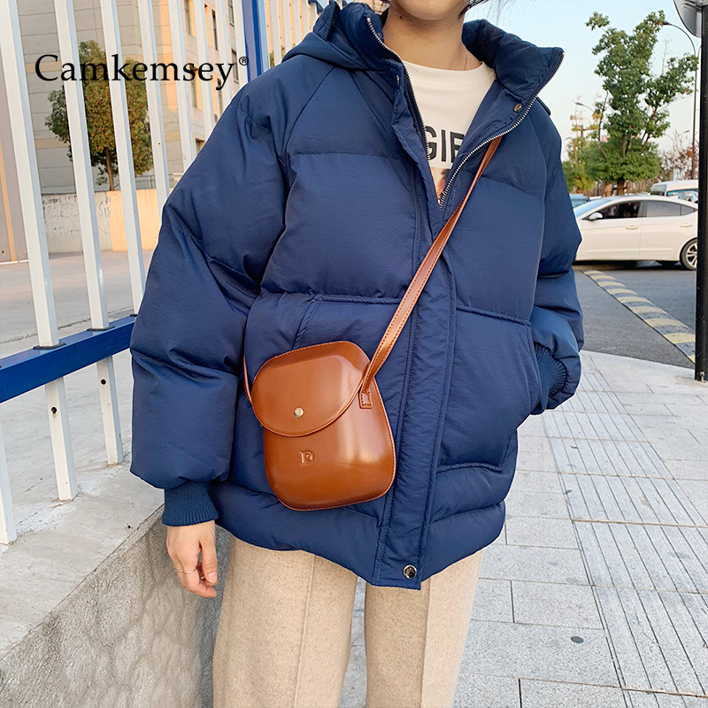 CamKemsey 2019 New Thick Warm Down Cotton Padded Winter Coats Women   Parkas   Casual Big Pockets Hooded Down Jackets For Winter