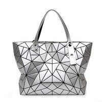 2017 Japanese Women Folding Handbag Bao Bao Bag Geometry Sequins Plain Shoulder Bags Tote Famous Brands