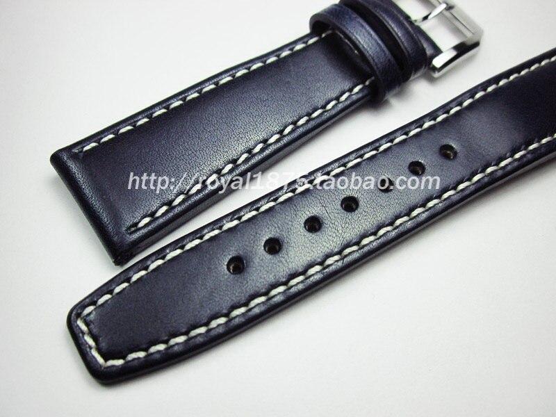 Pour Hamilton Montre Bracelet en Cuir Noir Fermoir//Boucle 18 19 20 21 22mm