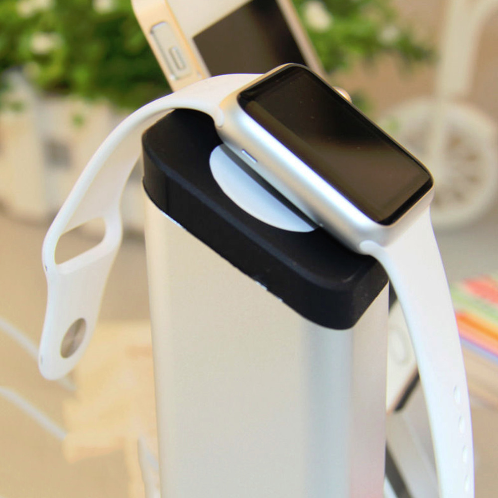 ФОТО 2 in 1 Aluminum Charging Dock Station Stand Holder for Apple Watch Cellphone