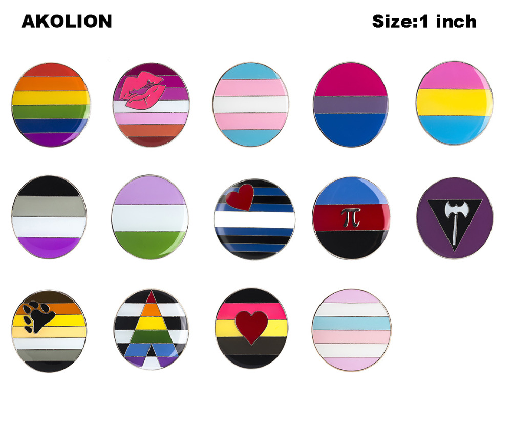 Gay Pride Rainbow Flag Rozet Metal Chapas Metalicas Pins Icon Backpack Brooch for Gift