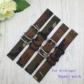 Pulseira inteligente para huawei watch 18mm qualidade nylon camuflagem cinta faixa de relógio para withings activite/aço/pop
