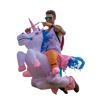 Animal Themed Inflatable UNICORN Costume Fan Blowing Suits Unicorn Cosplay Funny Dress Onesies Halloween Costumes For