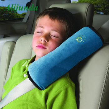Children car pillow car car baby safety seat belt strap shoulder pad cover child protection car styling drop shipping image