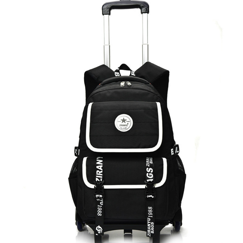 купить Trolley School Bag for boys Girls 3 Wheels Backpack Children wheels school backpack Travel Bag Rolling Schoolbag Kids Mochilas недорого