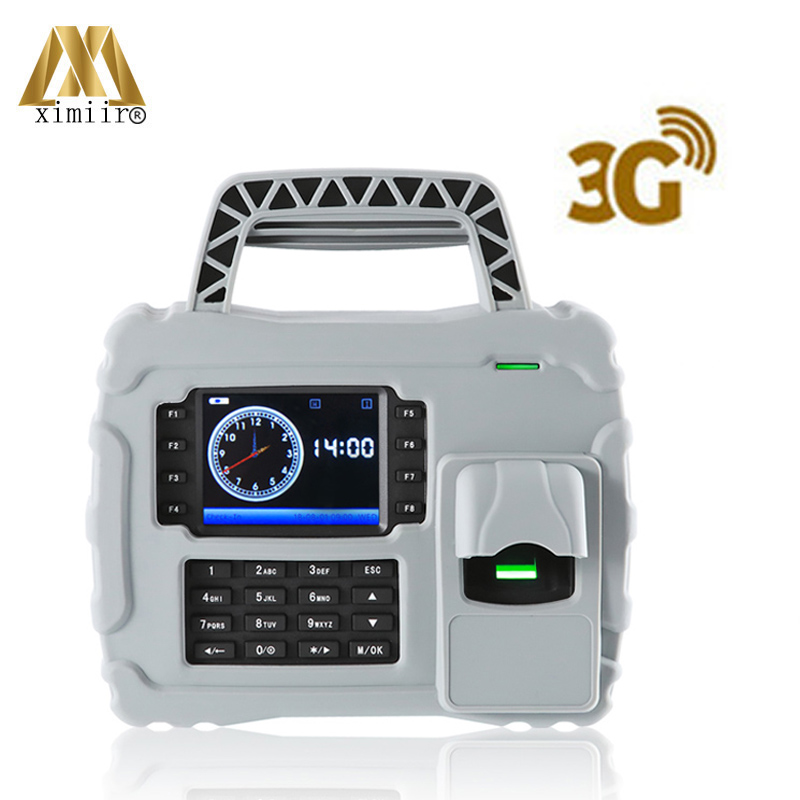 Free Shipping SDK S922 With 3G Employee Time Attendance Waterproof Fingerprint  Built-in Battery Biometric Time Attendance