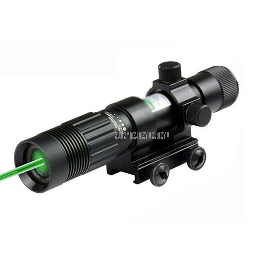 Tactical 5mW Green Laser Sight Hunting Laser Zoom Adjustable Designator With Mount For 20mm Rail Tactical Weapon With Battery
