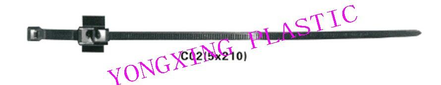 100pcs/lot car motocycle accessory nylon cable tie C02 5X210 bundle cable