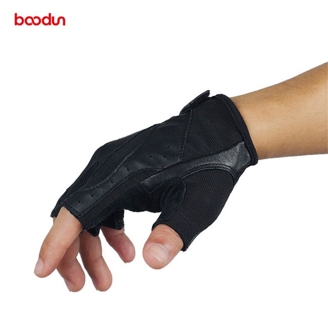 Boodun Genuine Leather Gym Gloves Men Women Breathable Crossfit Fitness Gloves Dumbbell Barbell Weight Lifting Sports Equipment 4