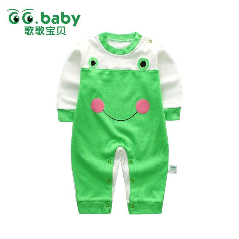 Spring Baby Romper Långärmad Bomull Baby Girl Rompers Pojke - Babykläder