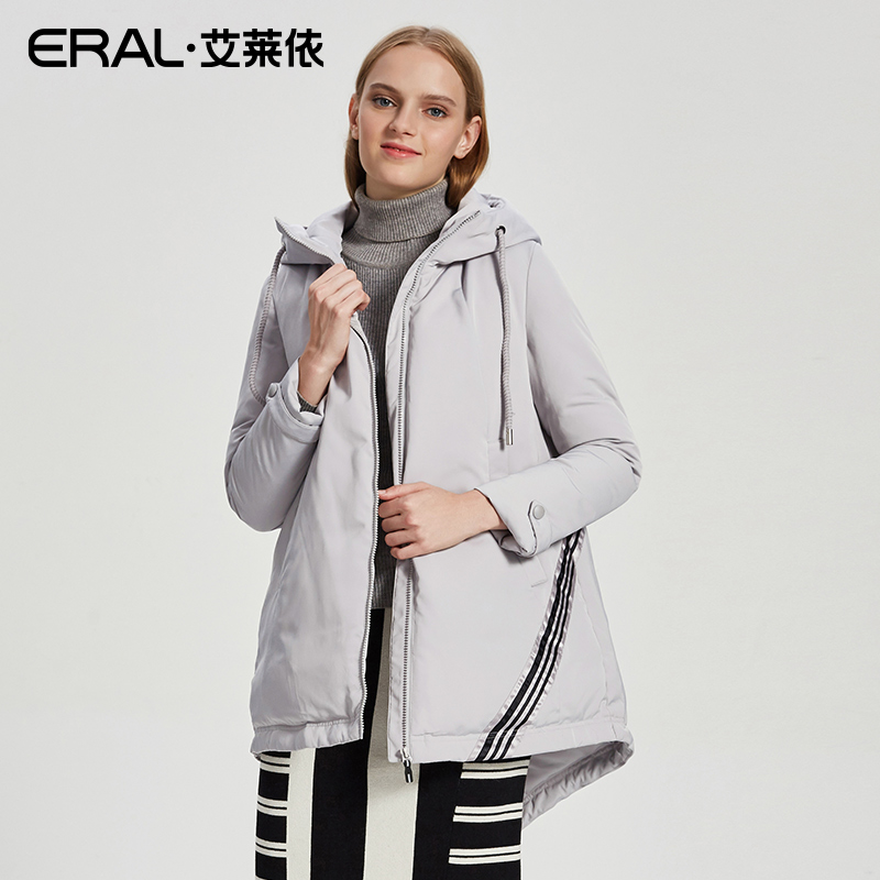 ERAL Womens Winter Casual Down Jacket Female Hooded Thermal Long Down Parka Coat Plus Size 2017 New ERAL16077-FDAB