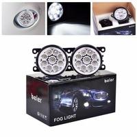 2x Beler 12V Car Styling 9 LED Right Left Fog Lamp DRL Daytime Running Driving Lights