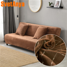 Svetanya Without Armrest Fold sofa Slipcover for Sofa Bed Tight Wrap Elastic Towel Couch Case