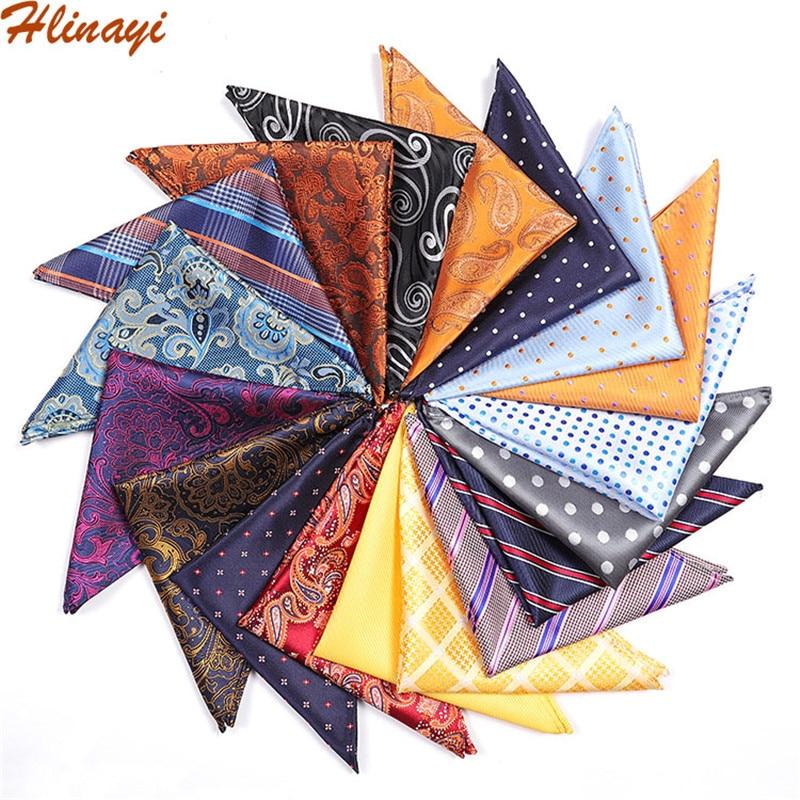 Hlinayi 2019 Polyester Jacquard Cashew Dot Casual Fashion Men's Pocket Towel
