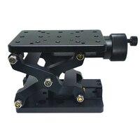 PT-SD408/408 S Высокоточный Ручной Подъемник Z-axis ручной лабораторный домкрат Лифт оптическая раздвижная подъемная платформа 60 мм путешествия