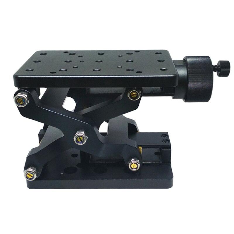 PT SD408/408S High Precise Manual Lift Z axis Manual Lab Jack Elevator Optical Sliding Lift lifting platform 60mm Travel