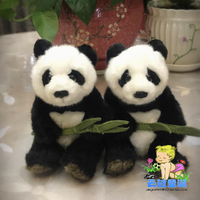 Stuffed Panda Toy Simulation Animal Doll Cute Hold Bamboo Pandas Toys Children Holiday Gift
