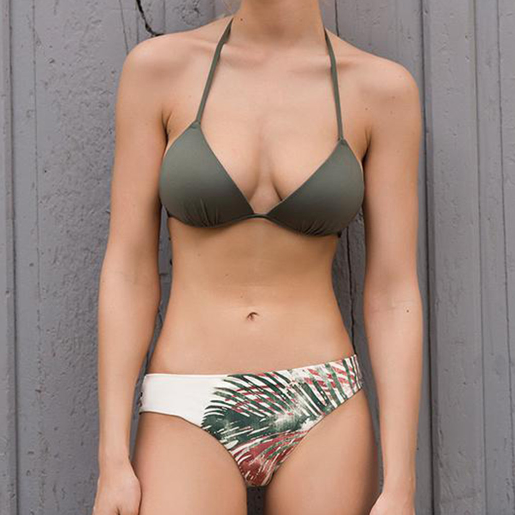 ishowtienda 2019 swimwear women swimwear bikini print two. Black Bedroom Furniture Sets. Home Design Ideas