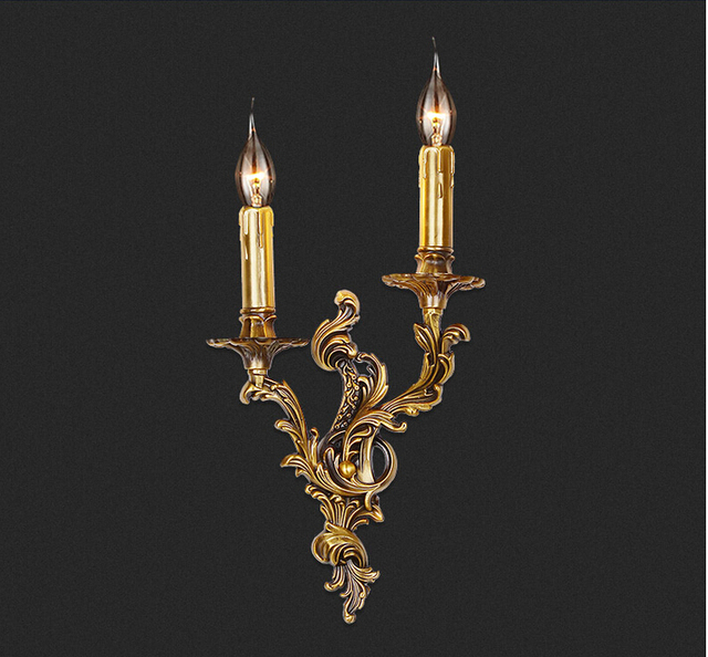 Free Shipping Classical Golden Brass Wall Lamp Indoor Wall Sconce ...
